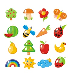 Childrens set vector