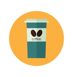 Coffee paper cup to go vector