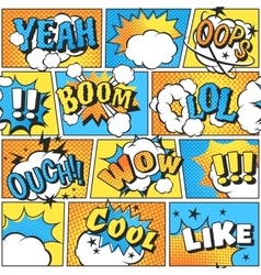 Comic style boom effect sound in pop art vector image vector image