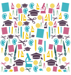 education color icons set vector image vector image