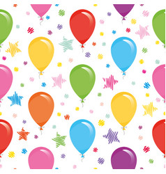 festive seamless pattern with colorful balloons vector image vector image