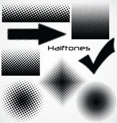 halftone dot - set for your design vector image vector image