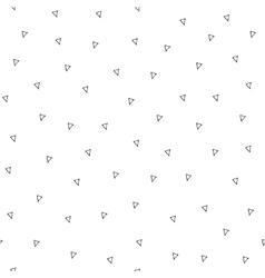 Hand drawn simple triangle geometric seamless vector