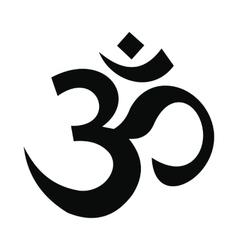 Hindu om symbol icon simple style vector