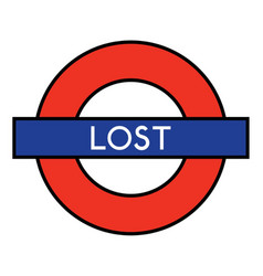 lost on the underground vector image