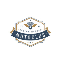 moto club logo template design element vector image
