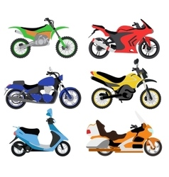 Motorcycles moto bike vector