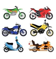 Motorcycles moto bike vector