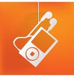 Mp3 player icon vector image vector image