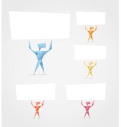Paper men vector