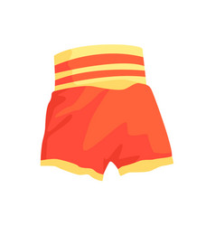 Red boxing shorts clothing for athlete colorful vector
