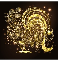 Rooster New Year Background vector image vector image