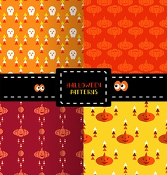 Set of halloween patterns3 vector image