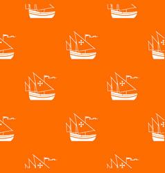 ship of columbus pattern seamless vector image vector image