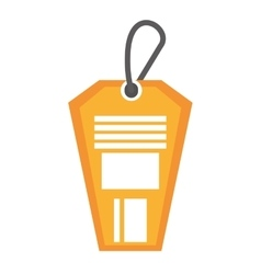 Tag commercial hanging isolated icon vector