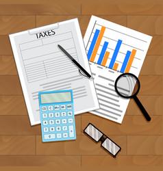 tax statistics vector image