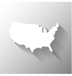 united states of america usa white map vector image vector image