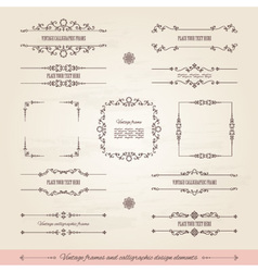 Vintage frames and page decoration set vector