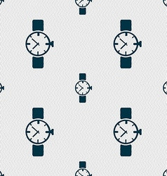 watches icon symbol Seamless abstract background vector image