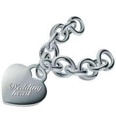 wedding heart silver vector image vector image