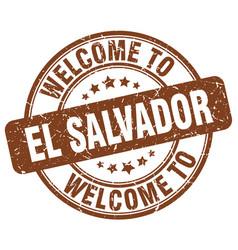 Welcome to el salvador brown round vintage stamp vector