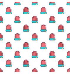 Winter hat cap pattern seamless vector