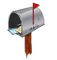 Mailbox cartoon icon vector image
