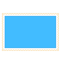 Empty rectangle postage stamp vector