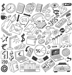 Business doodles collection vector