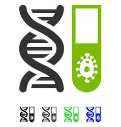 Hitech microbiology flat icon vector