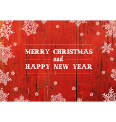 xmas design on red planks texture vector image