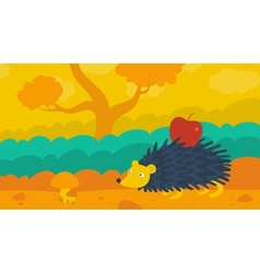Hedgehog in the forest vector
