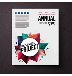 Design template for an annual business report vector