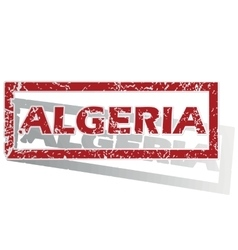 Algeria outlined stamp vector
