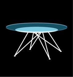 Modern glass coffee table vector