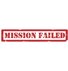 Mission failed sign vector