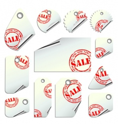 Tags sale vector