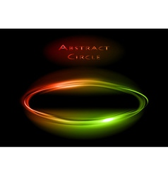 abstract circle on black red green vector image vector image