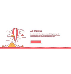 Air tourism web page design flat vector