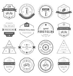 Badges and logos cycling vector