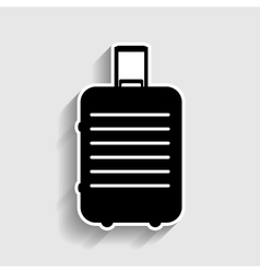Baggage sign Sticker style icon vector image