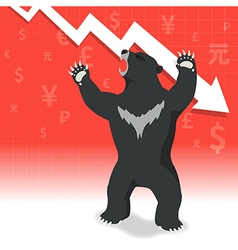 Bear market presents downtrend stock market vector image vector image