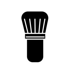 brush for shaving icon black vector image