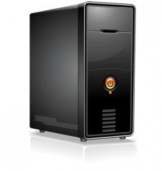 Computer case vector