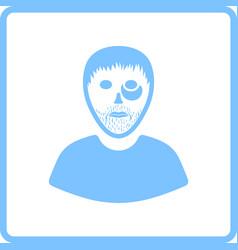 Criminal man icon vector