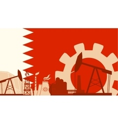 Energy and power icons set with bahrain flag vector