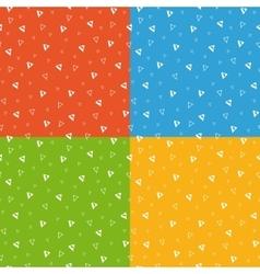 Festive bright triangle geometric seamless pattern vector image