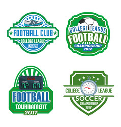 football sport club soccer championship badge set vector image vector image