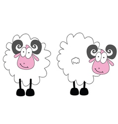 Funny ram animal with big eye vector