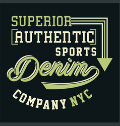 graphic superior authentic sports vector image